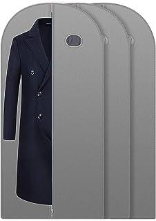 JiatuA Lot de 3 Housses de Protection pour Vêtements/Costumes, Sac à vêtements Respirant Repliable pour Voyage, Grand