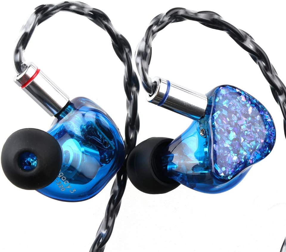 Thieaudio Legacy 3 2BA + 1DD Hybrid Triple Driver in Ear Monitor for Audiophiles Musicians (2pin, AW11)