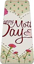 Yogamat - vintage moederdag anjer - Extra dikke antislip oefening & fitnessmat voor alle soorten yoga, pilates & vloertrai...