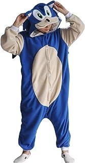 7°MR Pijama Adulto Unisex Pijamas Hombre Pijamas Animal Onesie Adulto XXL Papel de Dibujos Animados Ropa Pijamas de Mujer (Color : Sonic Pajamas, Size : Large)