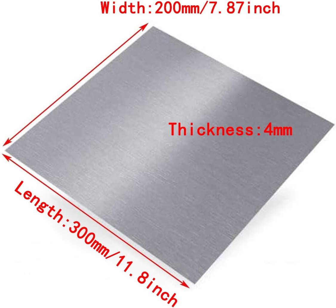 DSFHKUYB Aluminum Sheets /& Plates Precision Metals Tooling Flat Sheet Plate,Stamped Aluminum Plate Natural Raw 200X300mm,6200300mm