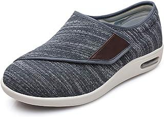 Chaussures Diabétiques pour Hommes Ajustables Unisexe en Mesh Eté Pantoufles Bout Ouvert Large Chausson Fermeture Scratch ...