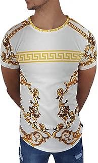 Uniplay Men's Designer Italian Short Sleeve T-Shirts, White