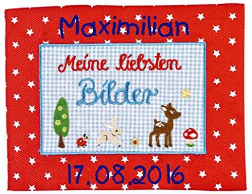 Spiegelburg 11732 - Babyglück Stoff-Fotoalbum mit Namen Beschriftung