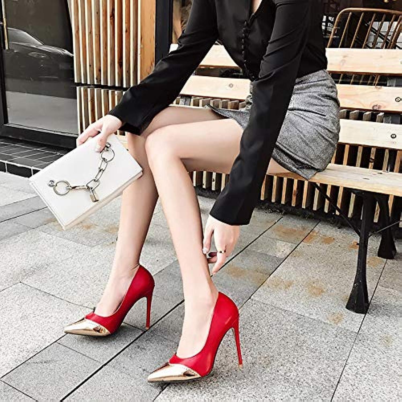 HBDLH Damenschuhe Frauen Einzelne Schuhe Temperament Slim - Heels Mode 11Cm High Heels  | Diversified In Packaging  | Schöne Farbe  | ein guter Ruf in der Welt