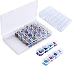 Plastic Organiser Storage Box 28 Removable Grids Compartment for Jewellery Beads Earring Tool Container Clear