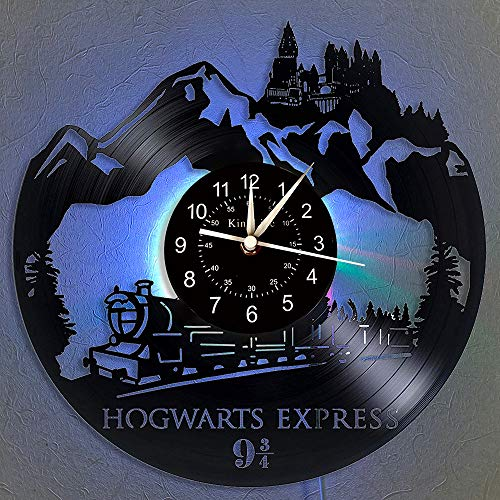 Harry Potter Vinyl Schallplatten Wanduhr LED Light 12