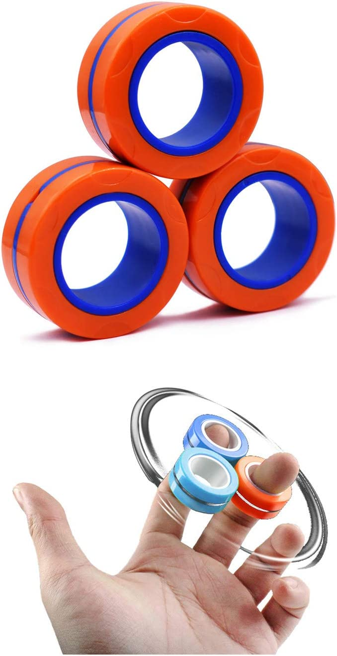 BESIACE Magnetic Finger Ring Stress Super popular specialty store Relief Toy Max 42% OFF Decompress Magnet