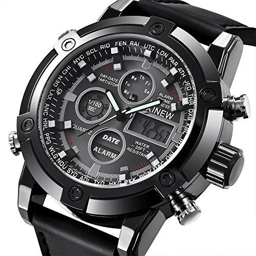 2020 Spring Deals ! Men Fashion Military Stainless Steel Date Sport Quartz Analog Wrist Watch Under 5 Best Gifts for Lovers