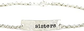 sterling silver script name bracelet