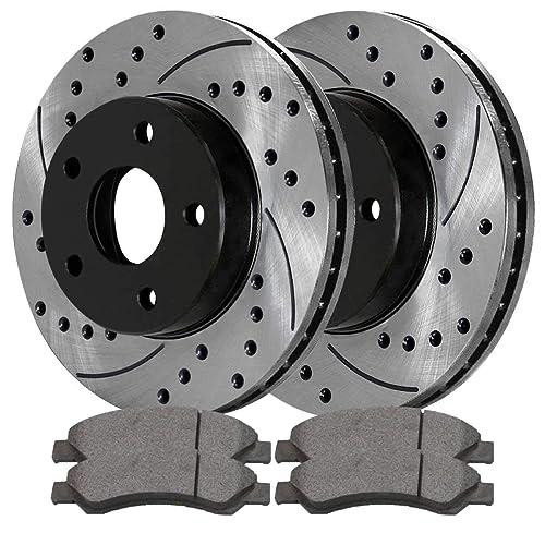 Auto Shack SCDPR63007630071084 Pair of Front Performance Rotors & Ceramic Brake Pads