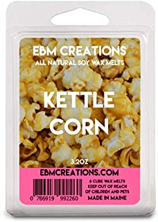 Kettle Corn – Scented All Natural Soy Wax Melts – 6 Cube Clamshell 3.2oz Highly Scented!