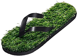 Green Grass Slippers for Women Summer Lawn Massage Flip Flops Beach Casual Shoes Female Funny Creative Outdoor Slipper (Color : A, Shoe Size : 44)