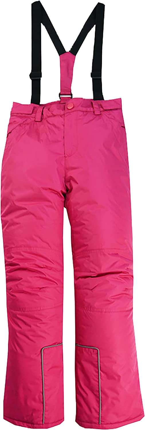 M2C Boys Girls Winter Thicken Snow Ski Pants with Removable Suspenders