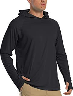 TACVASEN Men's Hoodies UPF 50+ Sun Protection Performance Long Sleeve T-Shirt Quick Dry Outdoor Hoodies