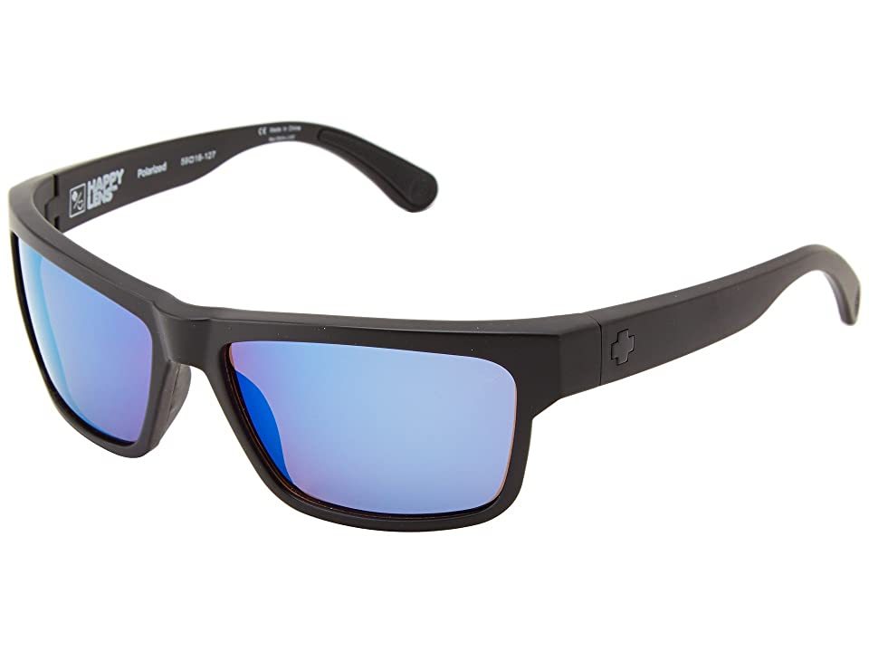 Spy Optic Frazier (Matte Black/Happy Bronze Polar w/ Blue Spectra) Sport Sunglasses