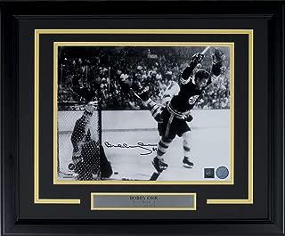 Bobby Orr Signed Framed 11x14 Boston Bruins Flying Goal Photo GNR