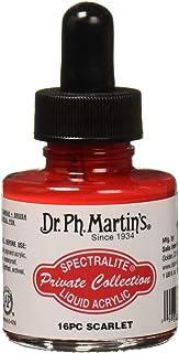 زجاجة طلاء أرسيليك من مجموعة سبيتراليتيه الخاصة من دكتور Ph. Martin's SPEC10OZS16PC، 1. 0 أونصة، سكارليت