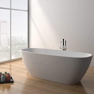 ADM Rectangular Stone Resin Freestanding Bathtub 66.9