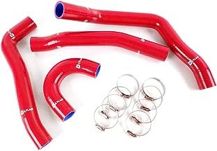 Silicone Radiator Hose Kit Clamps For 08-14 Mitsubishi Evolution EVO 10 X 4B11 Red