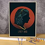 Lady Bird película Greta Gerwig película Saoirse Ronan para colorear por números Kit completo pinturas acrílicas 40x50 cm artesanía Pintura-por-números