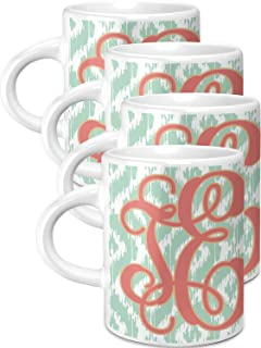 Monogram Espresso Cups - Set of 4 (Personalized)
