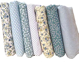 7 unids algodón Craft Tela Bundle Cuadrados Remiendo Pelusa DIY patrón de Costura Artcraft