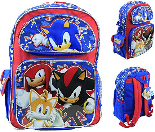 Sonic The Hedgehog Large Backpack 16'