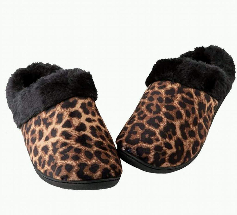 Totes Toasties Women's Memory Foam Slippers Leopard