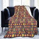 Moily Fayshow Uovo di Pasqua Fiori Colorati Coperta di Pile Coperta di Flanella Trapunta per Camera da Letto Arredamento 50 'X40'