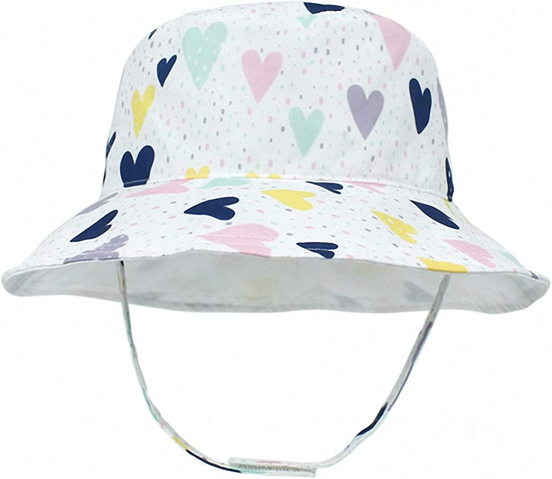 MaxNova Toddler Sun Hat Summer UPF 50+ Double-Side-Wear Reversible Bucket Hat for Baby