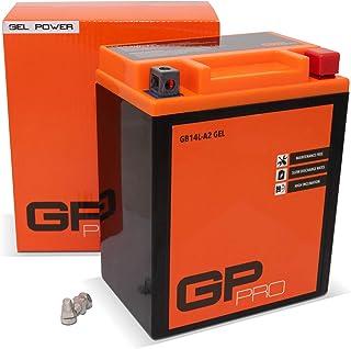 GP-PRO GB14L-A2 12V 14Ah GEL Batería de arranque (compatible con YB14L-A2 / 51411) (Sin necesidad de mantenimiento/Sellado) Moto Acumulador