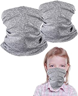 2 Pack Kids Neck Gaiters, Unisex Face Scarf For Kids,...