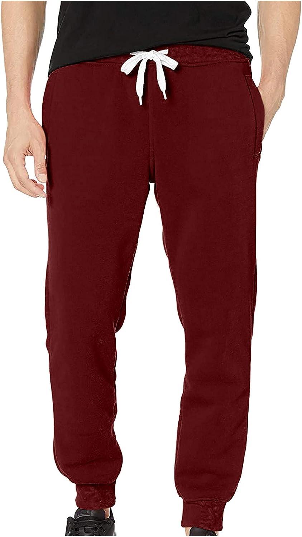 FRSH MNT Men's Basic Jogger Pants Drawstring Workout Athletic Pants with Pockets