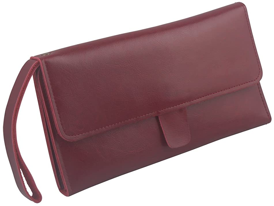 Scissor Pouch Holster for Hairdressers, Salon Hair Stylist Barber Scissors Shear Hairdressing Holder Case Bag, Real Leather-Red