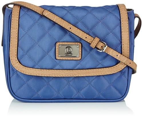 Bogner Male 0493874 Damen Umhängetaschen 19x18x6 cm (B x H x T), Blau (Jeans/Croco 277)