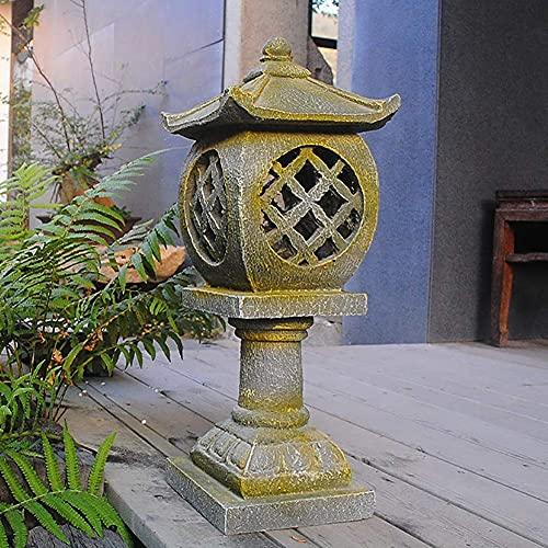 GYC Adornos de Resina para Exteriores, estupa de Pagoda, esculturas de Linterna de jardín, Estilo japonés, decoración asiática, Manualidades, Patio, Figuras de Patio B 19x19x53cm (7x7x21inch)