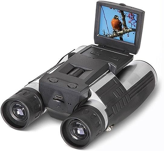 2'' FHD 12x32 Caméra Binoculaire Numérique, SGODDE Jumelles Appareil photo  5MP Caméscope Enregistreur Vidéo - Ecran LCD HD 1080P, Idéal pour Observation des oieseaux, Randonnée, Camping, Chasse