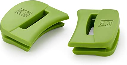 BRA Juego de 2 Asas de Silicona, Medida Grande, Prior, con diámetro de 24 hasta 36 cm, Verde
