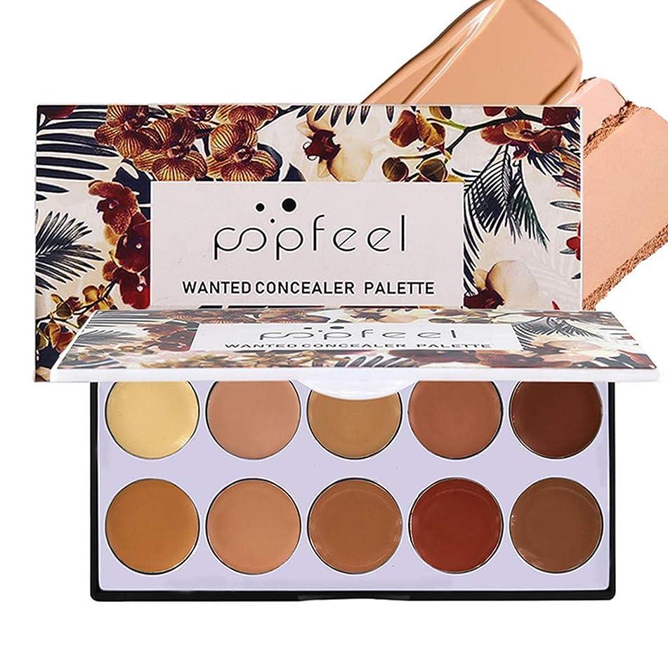 POPFEEL 10 color Concealer Cream Full Coverage moisturizing & waterproof & long lasting Makeup for all skin