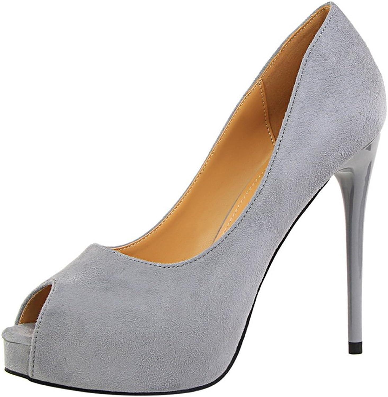 MAKEGSI Women Peep Toe Platform Sandals High Heels Pumps Party Dress shoes