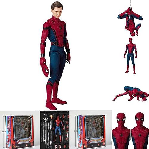 WYZBD Jouet modèle héros Retour Figure d'action Main et Le Pied Peuvent être déplacés Spider-Man Bathomme Superhomme modèle Peut Changer de Main pour Changer Le modèle,C