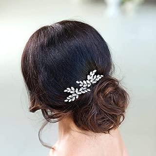 Fiore Capelli Sposa Pins Damigella Cristallo Diamante Perle Da Sposa Fermagli Grips