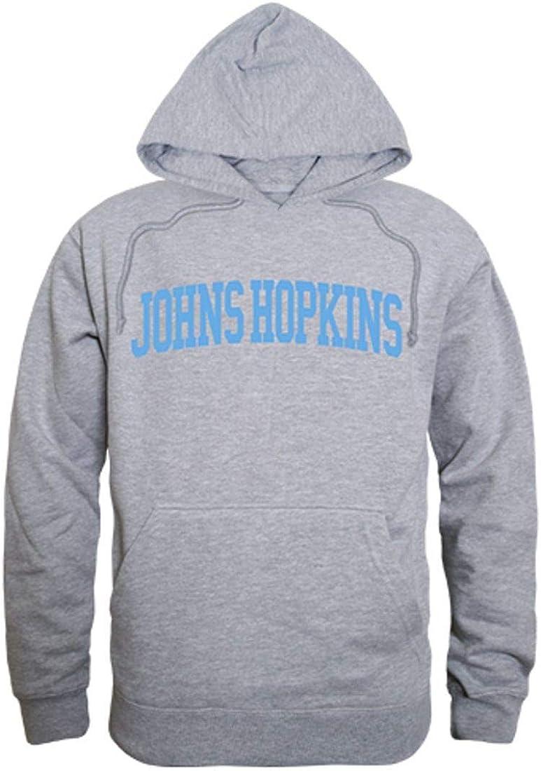 JHU Johns Hopkins University Game Day Hoodie Sweatshirt Heather Grey