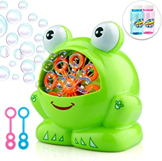 Betheaces Bubble Machine, Automatic Durable Bubble Maker 500 Bubbles per Minute with 8oz Refill Solution Water Summer Toy for Kids Boys Girls Age of 4,5,6,7,8-16 Outdoor and Indoor Party Use