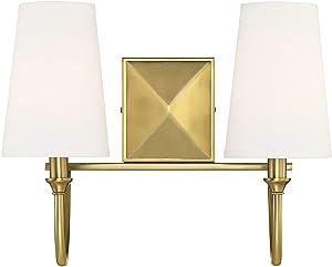 "Savoy House 8-2542-2-322 Cameron Warm Brass 2-Light Bathroom Vanity Light (15"" W x 12""H)"