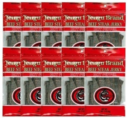 テング ビーフジャーキー ホット 100g×10袋セット(国産品) おつまみ 天狗