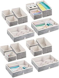 mDesign boîte de Rangement pour Armoire ou Commode (Set de 16) – bacs de Rangement élégants de différentes Tailles – Organ...