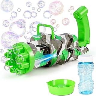 PunnkFunnk Gatling Bubble Machine 2021 Cool Toys and Gift, 8-Hole Bubble Gun, Automatic Bubble Maker Gatling Gun Toy, Outd...