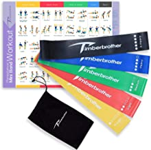 Timberbrother Resistance Loop Bands - Exercise Bands Set of 5 for Crossfit Workout and Physical Training